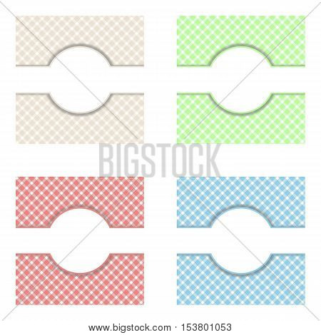4 Colorful checkered tablecloth background with tablecloth pattern
