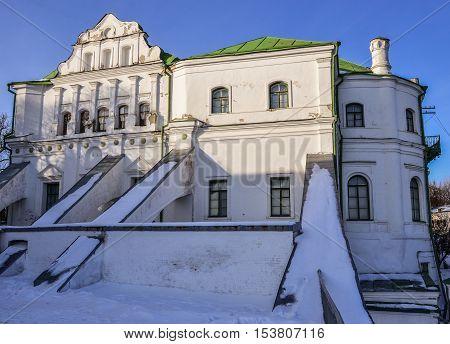 Building of the former Kiev Pechersk Lavra print shop. Ukrainian baroque, 18th-19th century