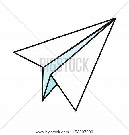 Paper plane icon. Paper airplane icon. Paper aircraft. Business design element. Design element, sign, symbol, icon in flat. Isolated object on white background. Vector illustration.