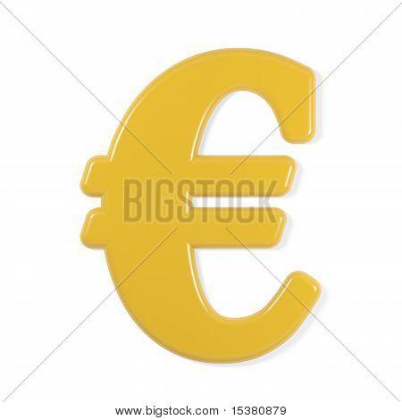 yellow font - euro symbol