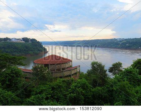 Rio Paraná Triple Frontier (brazilian side) - Foz do Iguaçu, Brazil