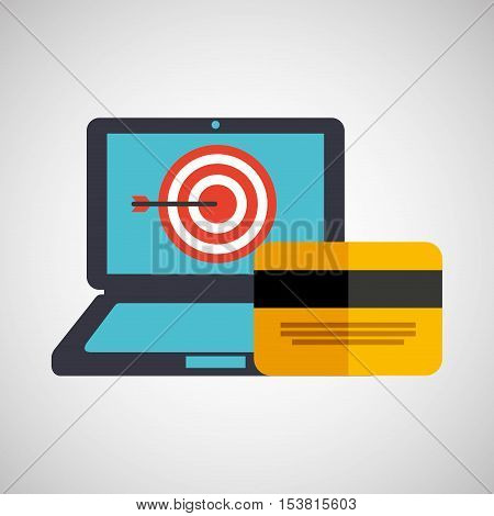 business strategy technology credit card money vector illustration eps 10