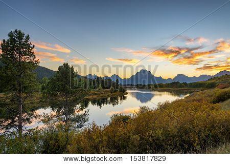 Teton Range Sunset Landscape