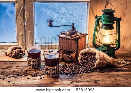Enjoy Your Hot Coffee In Cold Day