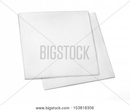 Blank paper napkin isolated on white background with copy space and clipping path