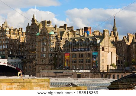 View Of The Old Town Of Edinburgh