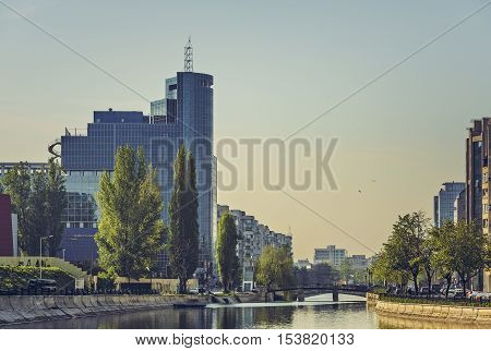 Sunrise Cityscape, Bucharest, Romania