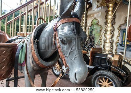 Merry-go-round Figure Closeup Donkey