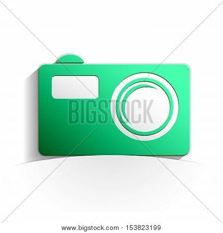 Pocket Camera Paper Icon