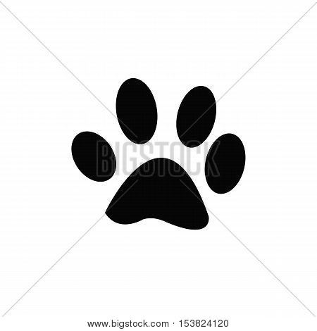 Paw Print,paw - black vector icon with shadow