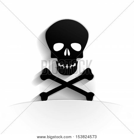 toxicity icon in paper style full vector