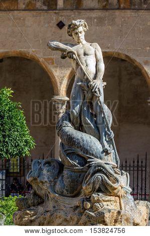 Triton Fountain In Monreale
