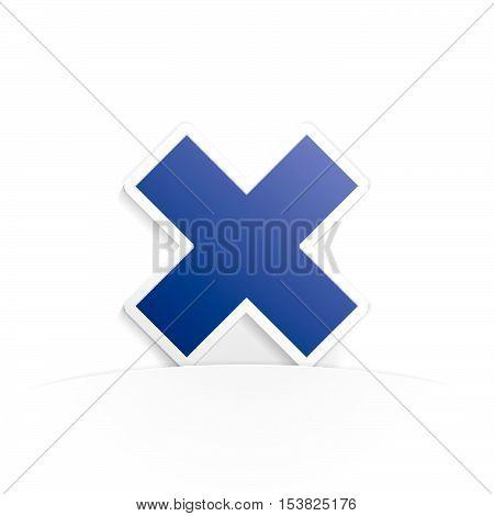 Toxic Cross Icon Paper
