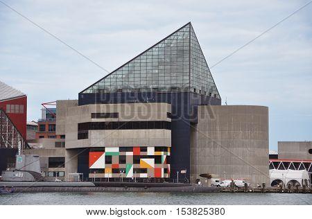 BALTIMORE, USA - AUG 13, 2010: National Aquarium in Baltimore, Maryland, USA.