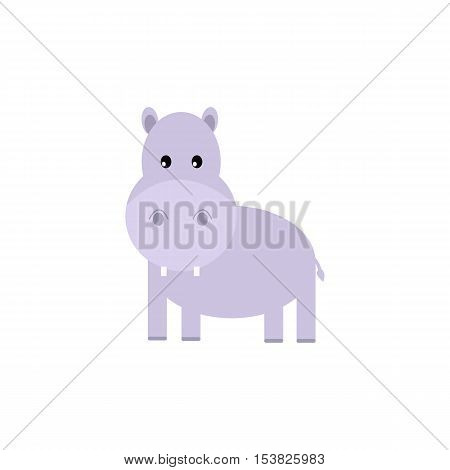 Fun hippo,Fun hippo vector illustration. Hippo animal wildlife mammal, zoo wild africa cute animal nature fat african hippo. Big mouth water animal wilderness overweight funny wild character.