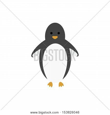 penguin,Penguin girl,vector illustration on white background,Cartoon penguin,vector illustration on white background
