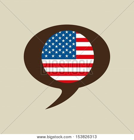 globe sphere flag usa country button graphic vector illustration eps 10