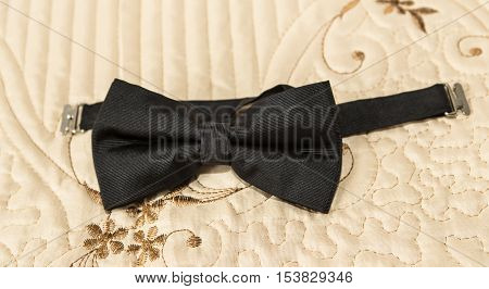Beautiful black bow tie ( black wedding bow tie )