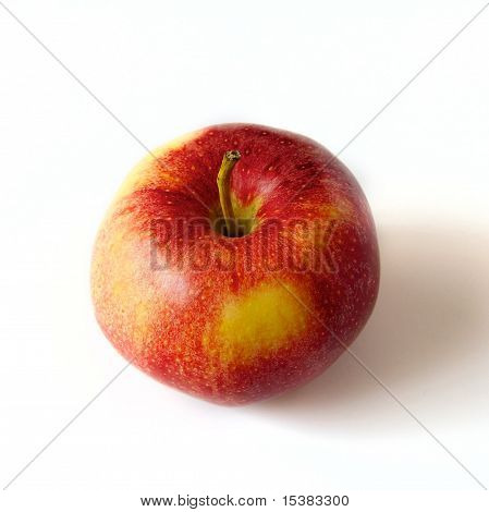 Fresh Red Juicy Apple On White Background