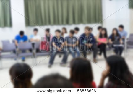 image blur activity of people relationship meeting in office