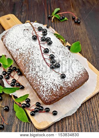 Fruitcake Bird Cherry With Berries On Board