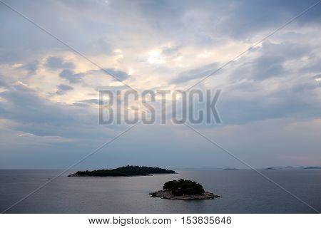 Little Islands In Sea