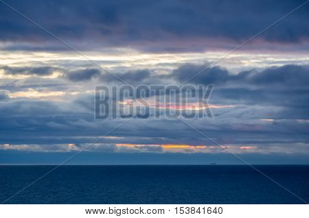 Sunset View On The Baltic Sea