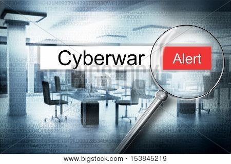 reading the word cyberwar browser search 3D Illustration