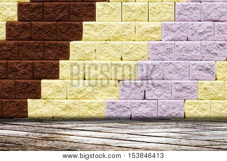 Patterned Brick Wall Is Beautiful Color Background