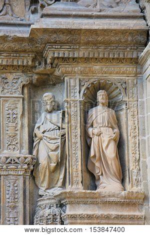 Statues At The Church Of Haro, La Rioja
