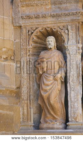 Statue Of Matthew The Evangelist At The Church Of Haro, La Rioja