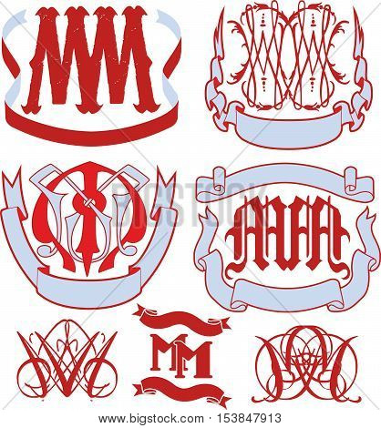 Set Of Mm Monograms And Emblem Templates