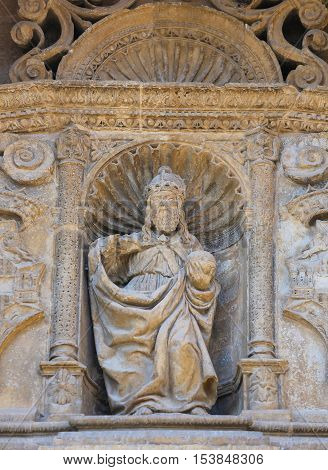 Statue Of God The Father At The Saint Thomas Church Of Haro, La Rioja