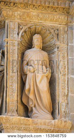 Statue Of Saint Thomas At The Church Of Haro, La Rioja