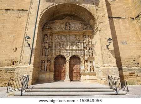 16th Century Principal Gate or Portada Principal at the Church of Santo Tomas in Haro La Rioja Spain