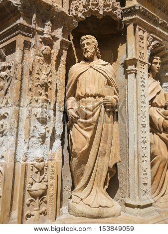 The Apostle Saint Matthias At The Saint Thomas Church Of Haro, La Rioja