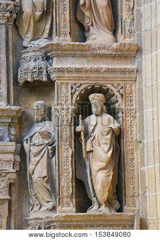 Portada Principal At The Saint Thomas Church Of Haro, La Rioja