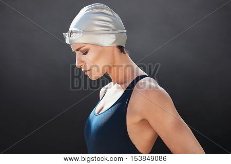 Fit Young Female Swimmer