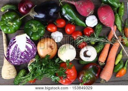 a pile of some fresh autumn vegetables