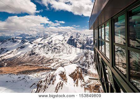 Wonderful View From The Summit Of Sass Pordoi, Dolomites, Italy