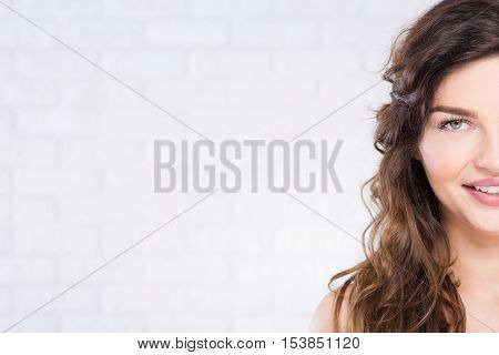 Half Of Woman's Face