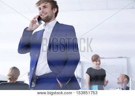 Elegant Man Talking On The Phone