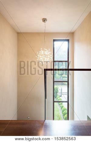 Bright Corridor With Big Window