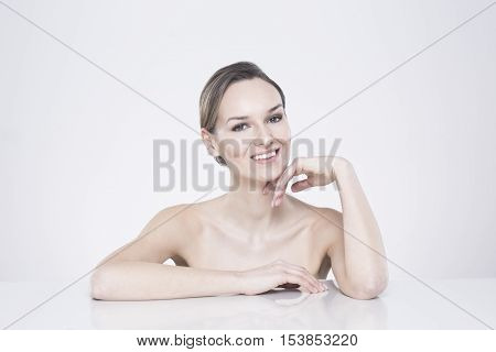 Smiling Woman With Naked Body