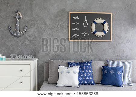 Modern Flat With Nautical Decorations