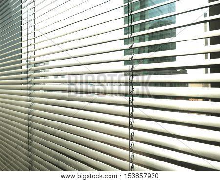 Window Grey Metallic Jalusie Sunblinds Background Office