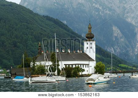 Schloss Ort is an Austrian castle situated in the Traunsee lake in Gmunden Austria