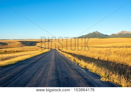 Long Road And Mountains