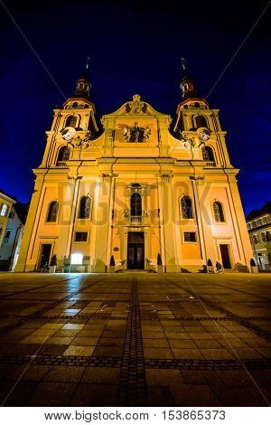 Ludwigsburg Germany Europe Cathedral Evangelical Church Religion Marktplatz Architecture Exterior Ni