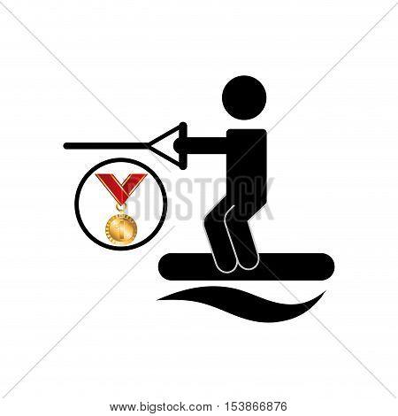 extreme sport avatar kiteboarded vector illustration eps 10
